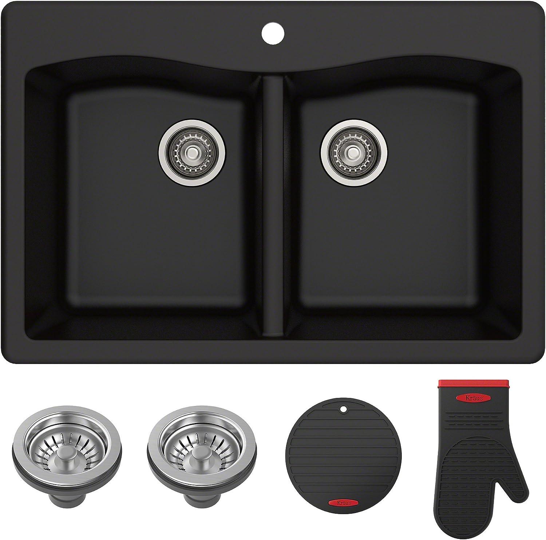 Undermount kitchen sink for granite countertops