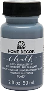 FolkArt 36332 Home Decor Chalk Furniture & Craft Paint in Assorted Colors, 2 ounce, Nantucket Blue