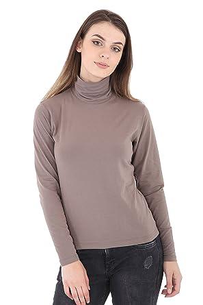 9531d63a25299e Girls Boys Polo High Neck Tops Long Sleeve Top 45% Cotton Plain Basic Roll  High