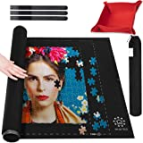 Marbs Puzzle Mat Roll Up with Guiding Lines for 500,1000,1500 Pieces. Roll Your Jigsaw Puzzle in 30sec - Portable Storage Mat