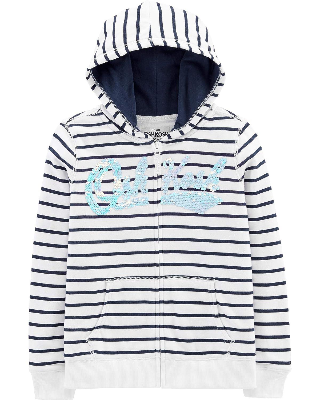 OshKosh Girls Full Zip Logo Hoodie Hooded Sweatshirt