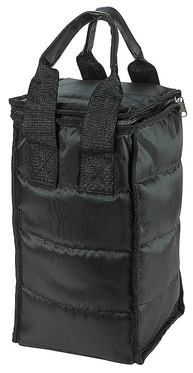Compra Vino Carrier Tote Bag - Bolsa de papel para botella de vino atractivo con externa de acolchado grueso, cremallera y bolsa de transporte con asas para ...