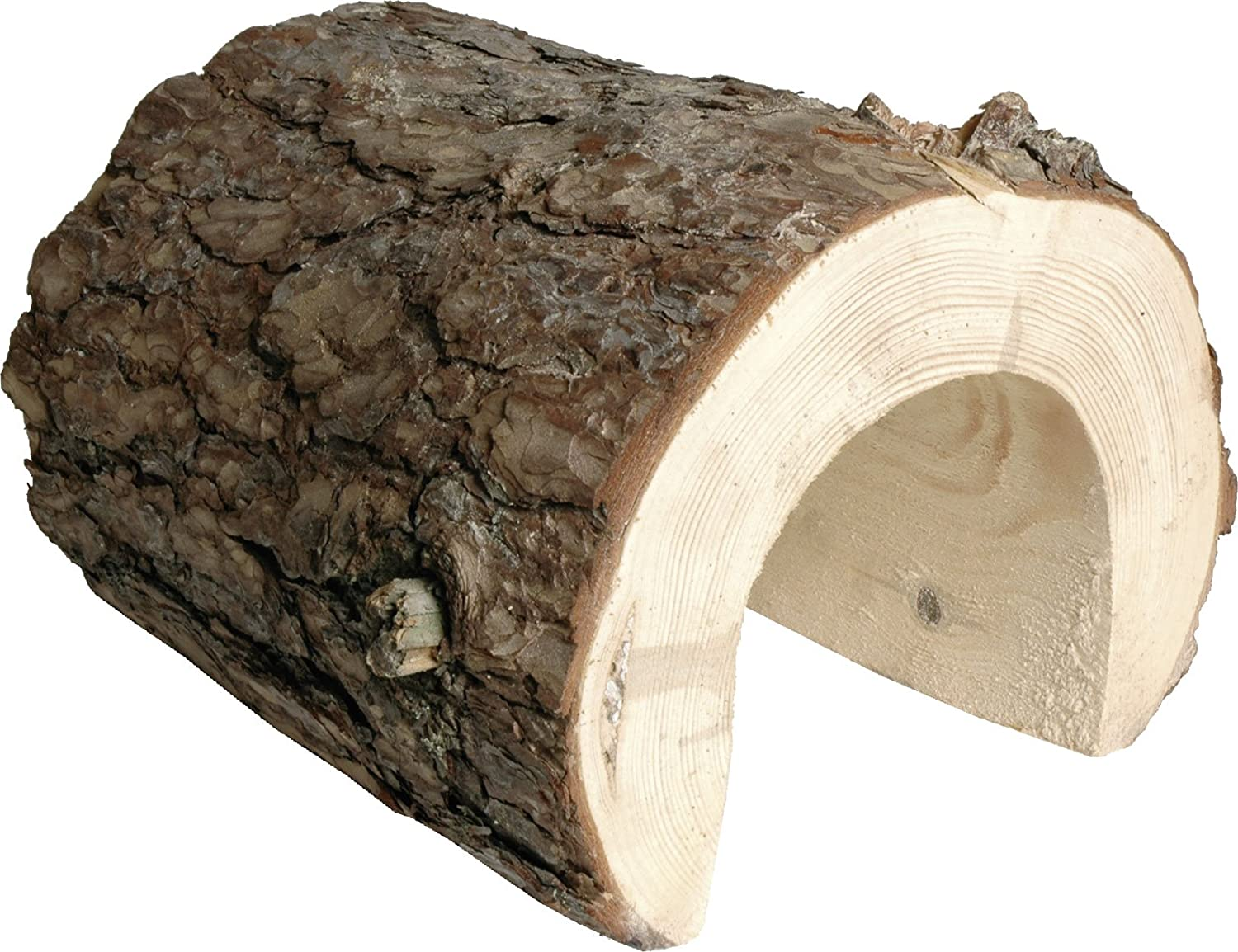 dobar 80090Natural Mega Rabbit Tunnel for Rodents with Pine Bark, 30x 28x 28cm brown