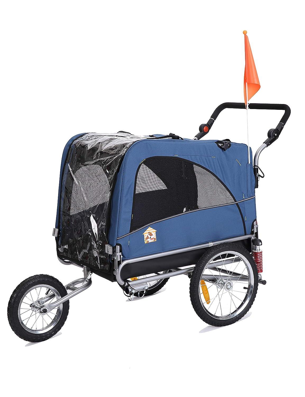 Leonpets 2en 1Animal réglable transportswagen Remorque vélo 10308Orange oskar-bebehut