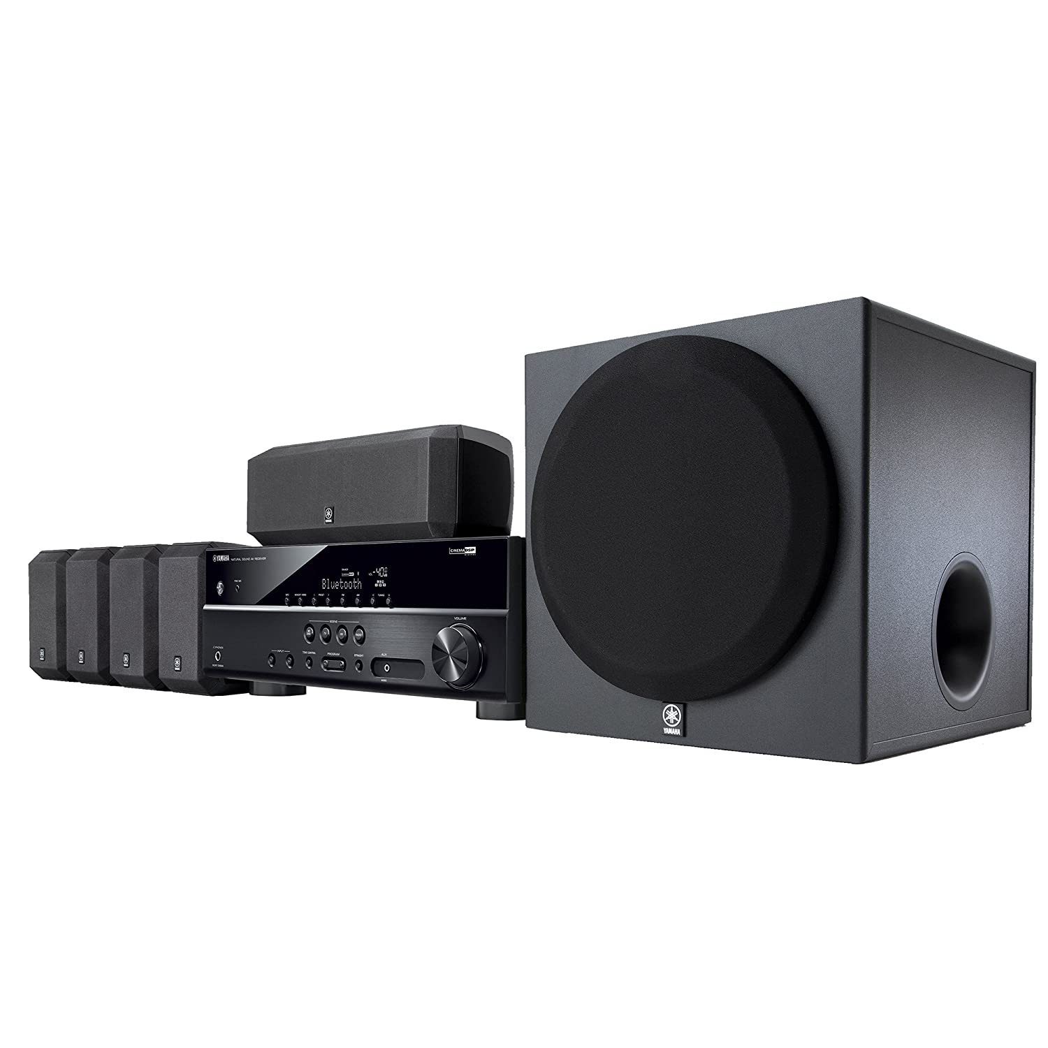 Amazon.com: Yamaha YHT-3920UBL 5.1-Channel Home Theater in a Box ...