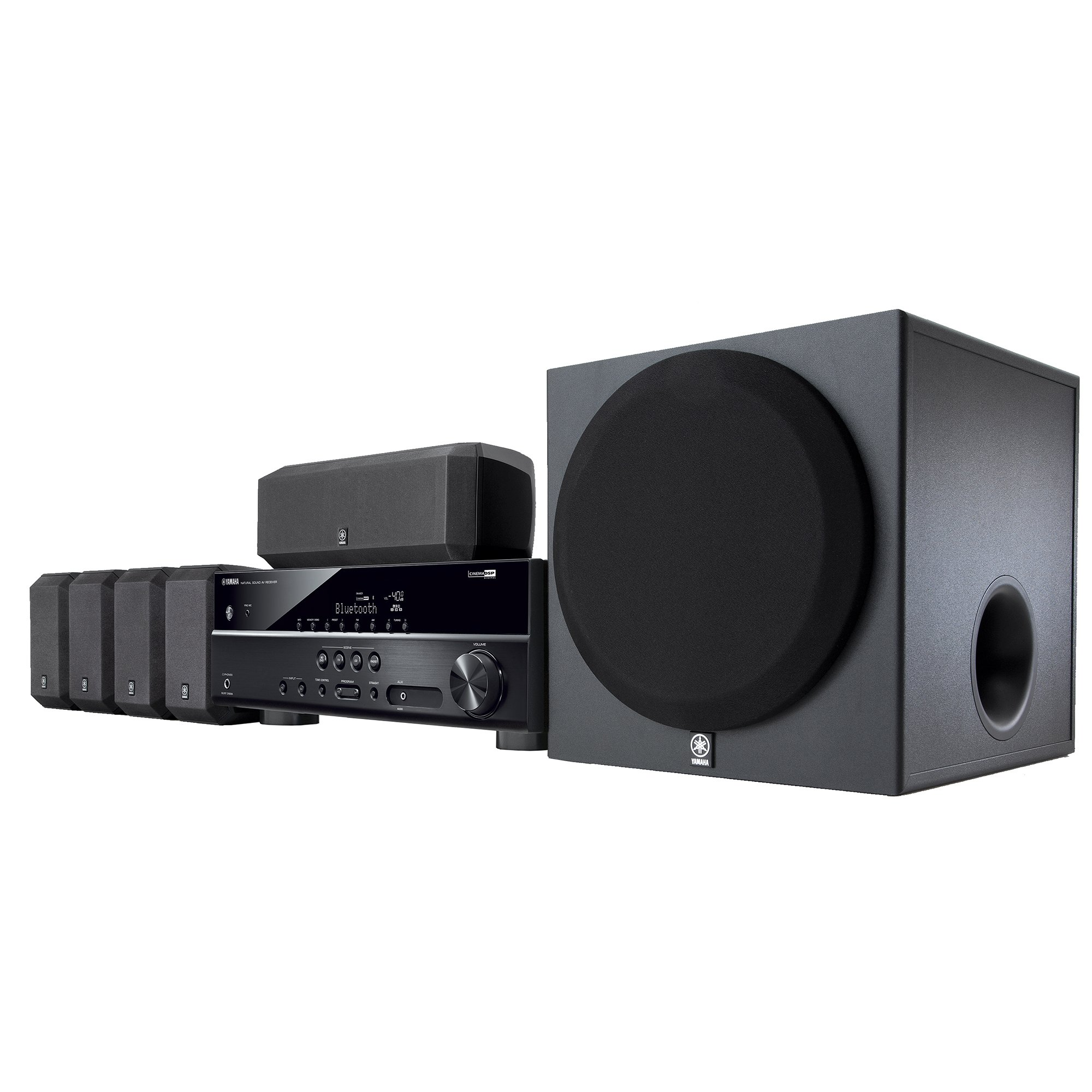 Yamaha YHT-3920UBL 5.1-Channel Home Theater in a Box System with Bluetooth by Yamaha