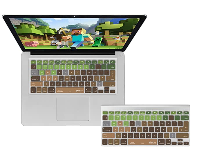 Amazon com: Dr  Bott 813066014672 Minecraft QWERTY Keyboard Cover