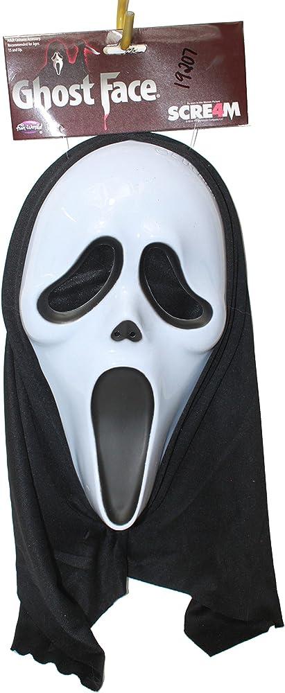 Panda House máscara de Disfraz de Fantasma Cara Scream: Amazon.es ...