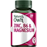 Nature's Own Zinc, B6 & Magnesium - Supports Bone & Muscle Health - Promotes Healthy Skin - Antioxidant, 200 Tablets