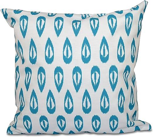 E by design PGN545BL27-20 20 x 20-inch Ikat Tears Geometric Print Pillow 20x20 Blue