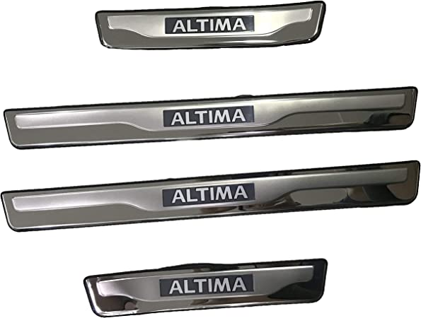 Weigesi Car Stainless Steel Door Sill Scuff Plates for Altima 2018-2020