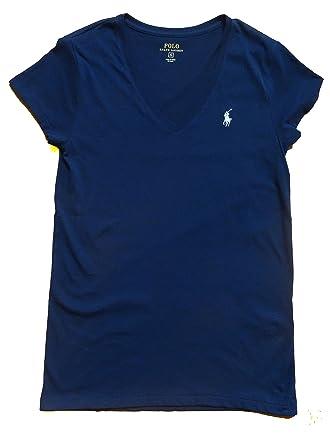 RALPH LAUREN Women s V-Neck Jersey T-Shirt at Amazon Women s Clothing store  8a3b70479651