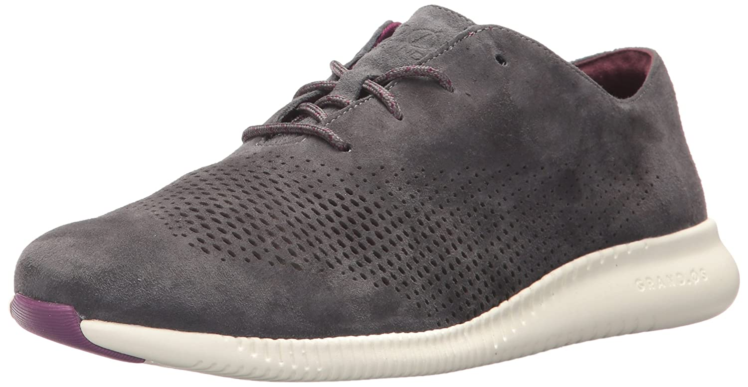 Cole Haan Women's 2.Zerogrand Laser Wing Oxford B071GXXT1R 11 B(M) US|Grey Pinstripe