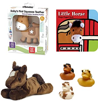 Amazon.com   Horse Baby Teething Toys - Bundle With Horse Baby Teether 96b1ad726d