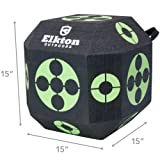 Elkton Outdoors 2017 Edition 18-Sided 3D Cube Reusable Archery Target Constructed With Rapid Self Healing XPE Foam for all Arrow Types