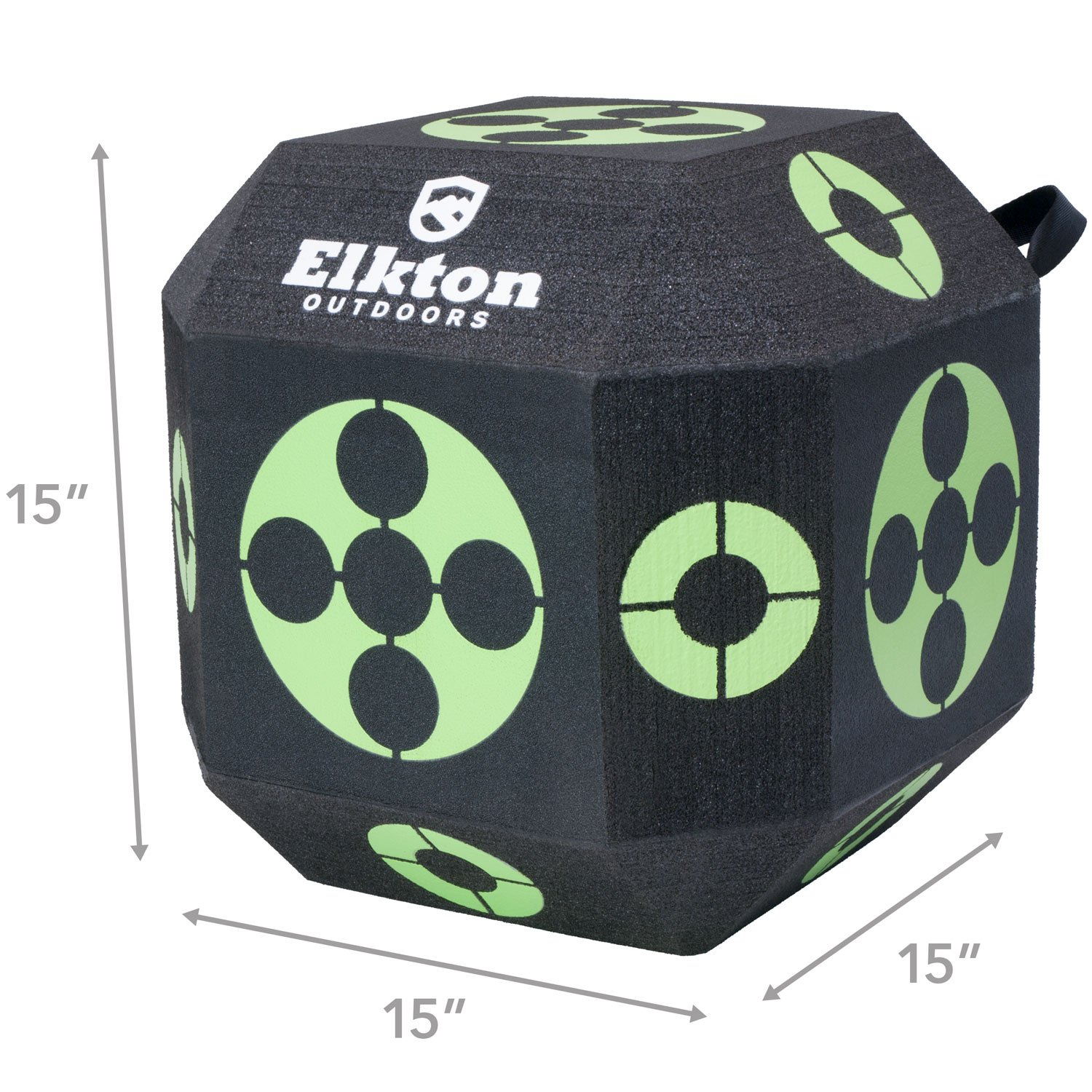 Elkton Outdoors 2017 Edition 18-Sided 3D Cube Reusable Archery Target Constructed With Arrow Puller & Rapid Self Healing XPE Foam for all Arrow Types by Elkton Outdoors (Image #2)