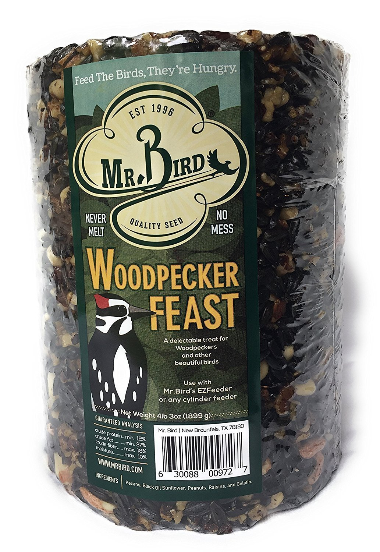 Mr. Bird Woodpecker Feast Birdseed Large Cylinder 4 lbs. 2 oz.