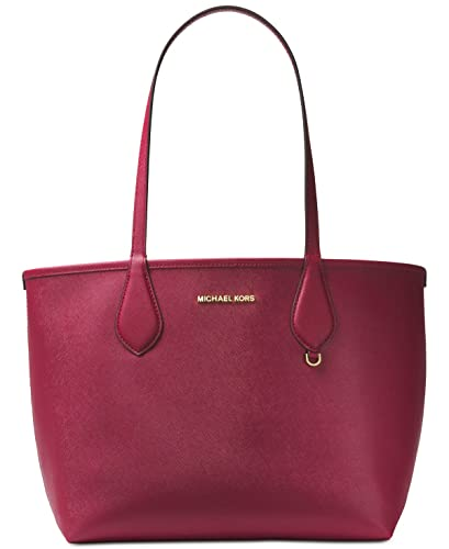 a1258ad1464325 MICHAEL Michael Kors Saige Medium Reversible Tote (Mulberry/Soft Pink)
