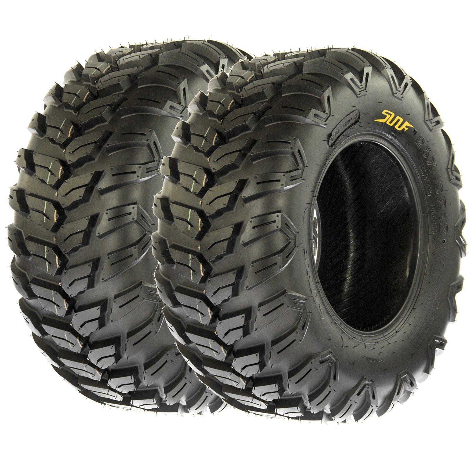 SunF All Terrain Radial ATV UTV Tires 26x11R-14 26x11x14 6 PR A043 (Set pair of 2)