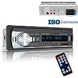 Dansrue Car Stereo Radio Receiver with Bluetooth, In-Dash Single Din Car Radio Receiver MP3 Player with Remote Control/ FM Radio/USB/SD Card/AUX (Black C)