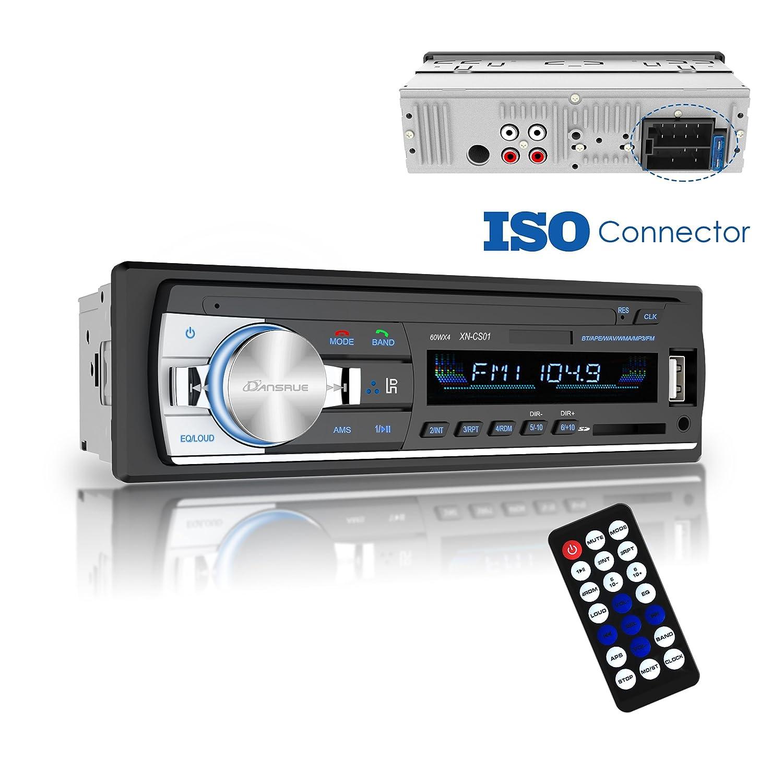 Amazon.com: Dansrue Car Stereo Radio Receiver with Bluetooth, In ...