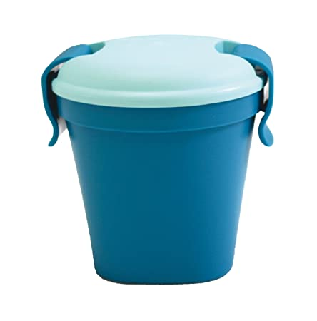 CURVER Becher Lunch & Go Größe S in dunkelblau/hellblau, Kunststoff, blau 11x11x11 cm