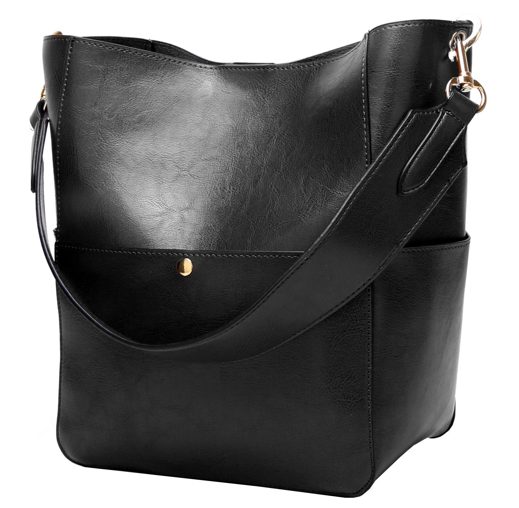 Molodo Women's Satchel Hobo Top Handle Tote Shoulder Purse Soft Leather Crossbody Designer Handbag Big Capacity Bucket Bags by Molodo