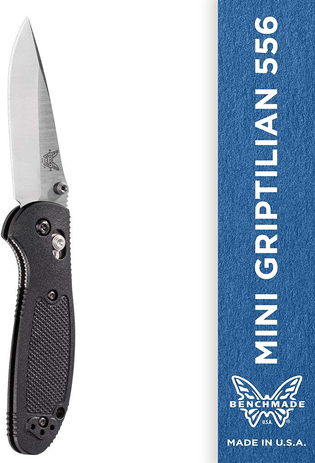 Benchmade - Mini Griptilian 556 EDC Manual Open Folding Knife Made in USA