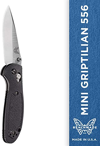 Benchmade – Mini Griptilian 556 EDC Manual Open Folding Knife Made in USA