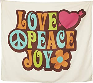 CRAFT + CREATOR Hippie Tapestry (60 x 50 inch) 70s Room Decor A Tapestry For Bedroom Wall Hanging