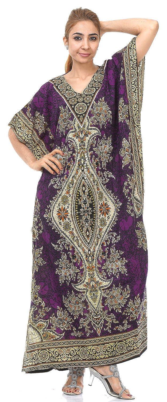 Odishabazaar Maxi Length Cinch Waist Caftan/Kaftans for Women IC-KFT-137