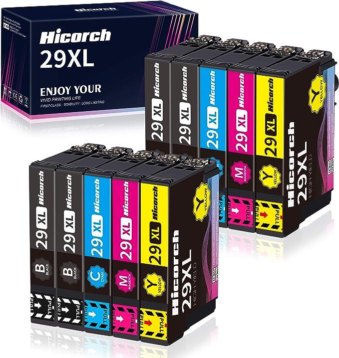 Hicorch 29xl Druckerpatronen Ersatz Für Epson 29 Xl Kompatible Mit Epson Expression Home Xp 235 Xp 245 Xp 247 Xp 255 Xp 332 Xp 335 Xp 342 Xp 345 Xp 352 Xp 355 Xp 432 Xp 442 Xp 445 Xp 452 10 Pack Bürobedarf Schreibwaren