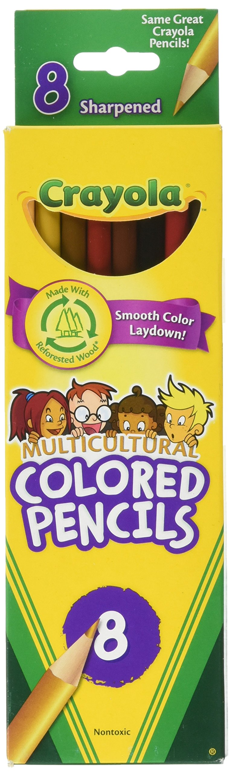 Crayola LLC MULTICULTURAL 8 CT C 8 Colored (Set of 6) 8