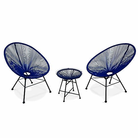 Alice s Garden 2 fauteuils design Oeuf avec table d appoint