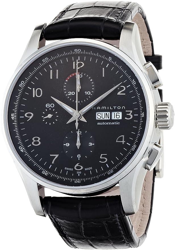 Hamilton Jazzmaster Maestro Auto Chrono - Reloj (Reloj de pulsera, Masculino, Acero inoxidable, Acero inoxidable, Negro, Zafiro): Amazon.es: Relojes
