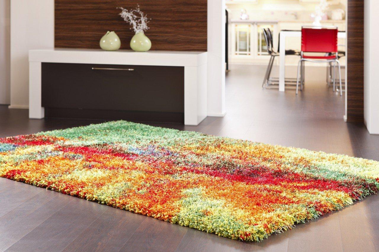 Hochflor Langflor Teppich Amalfi Bunt In 4 Größen: Amazon.de: Küche U0026  Haushalt