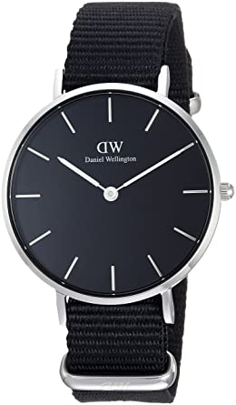 Daniel Wellington Reloj Analógico para Mujer de Cuarzo con Correa en Nailon DW00100216: Amazon.es: Relojes