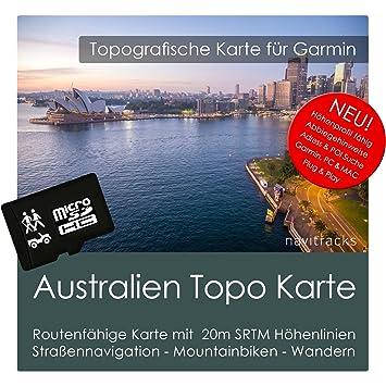 Australia Topo tarjeta de GPS Garmin - 8 GB MicroSD para ...