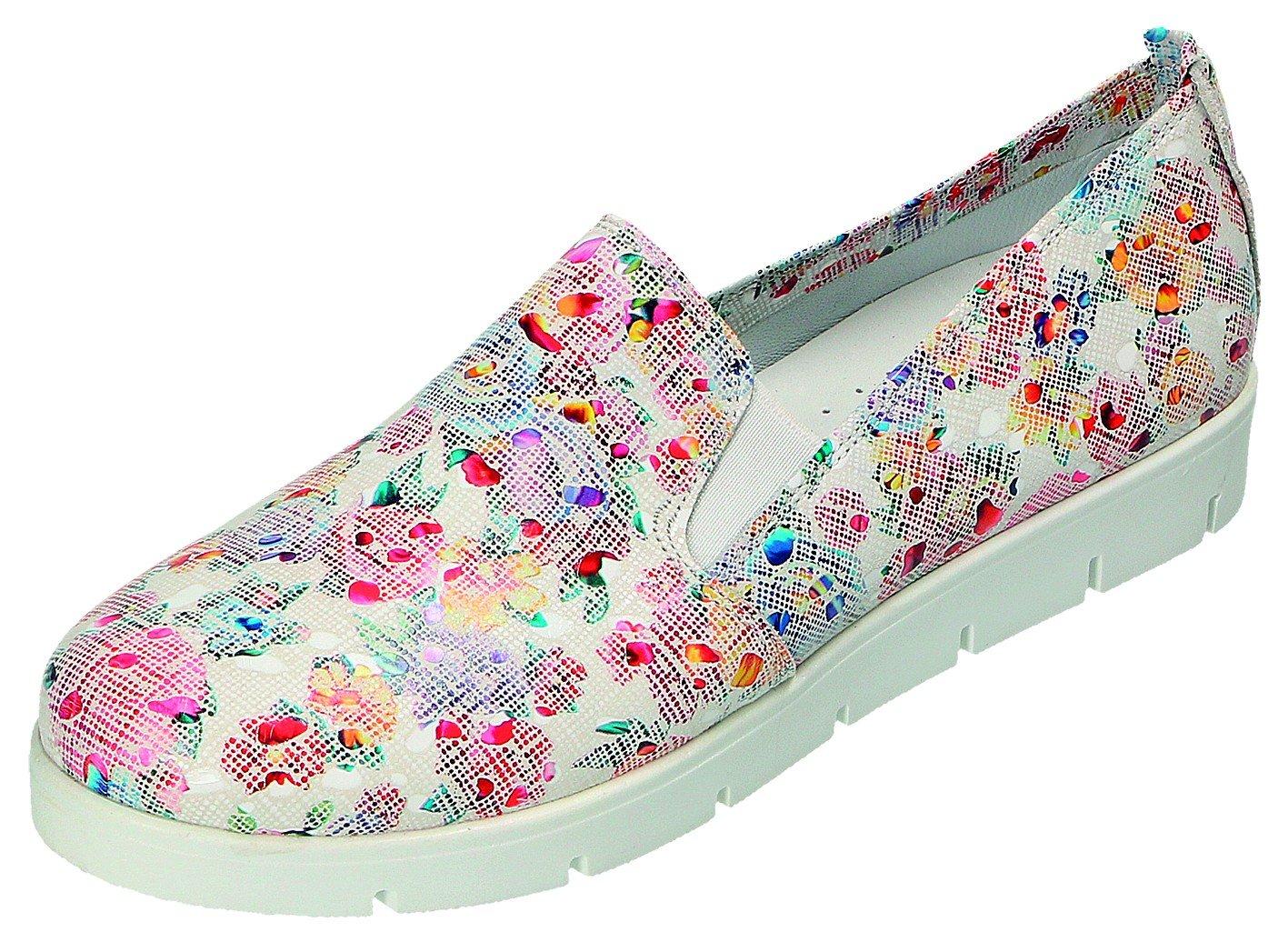 MICCOS Zapatos de Cordones Para Mujer Blanco/Multicolor 39 EU|blanco/multicolor