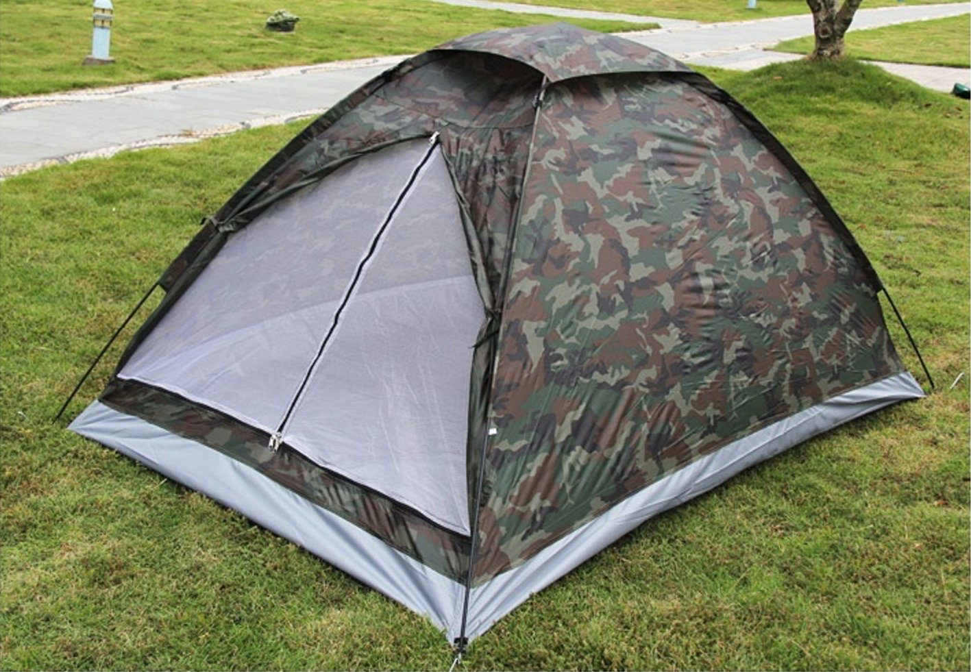 Amazon.com  LifeVC Ultralight C&ing Tent for 2 Person With Carry Bag Portable Outdoor Hiking Backpacking Tent Lightweight(ColorCamouflage)  Sports u0026 ... & Amazon.com : LifeVC Ultralight Camping Tent for 2 Person With Carry ...