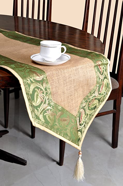 Jute Fabric Table Decor Dining Runner 72 X 16 Inches
