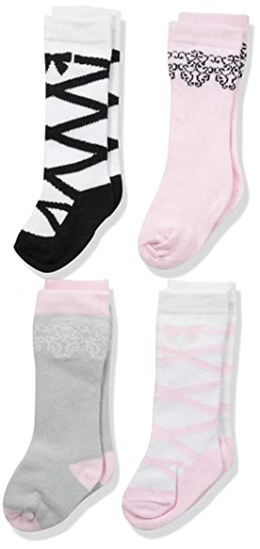 2d0f2077f Image Unavailable. Image not available for. Colour  Luvable Friends Baby  Knee-High Socks 4-Pack