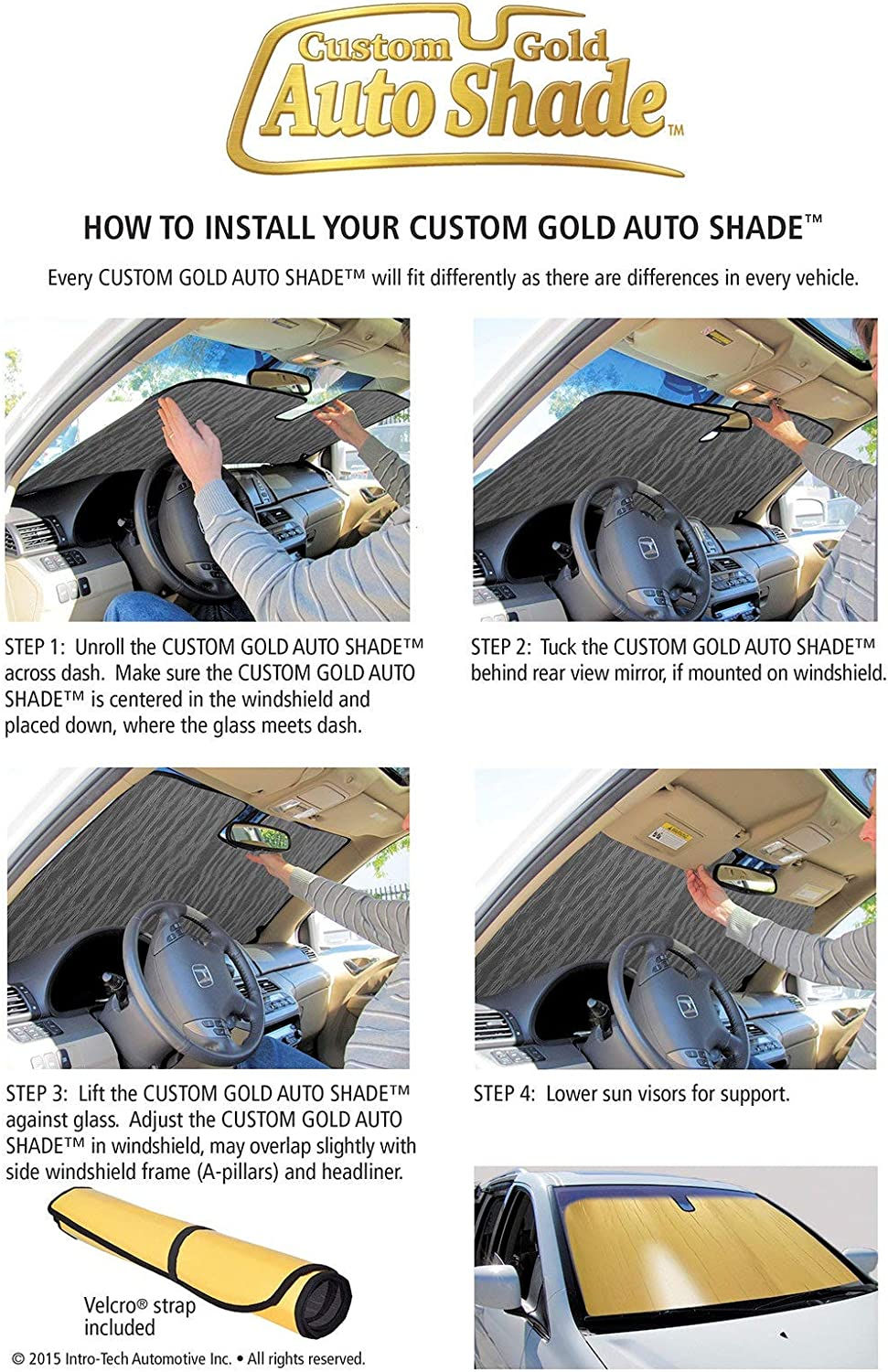 Intro-Tech LX-41-R Silver w Ultimate Reflector Custom Fit Folding Windshield Sunshade for Select Lexus IS200T//250//350 Models Without Sensor