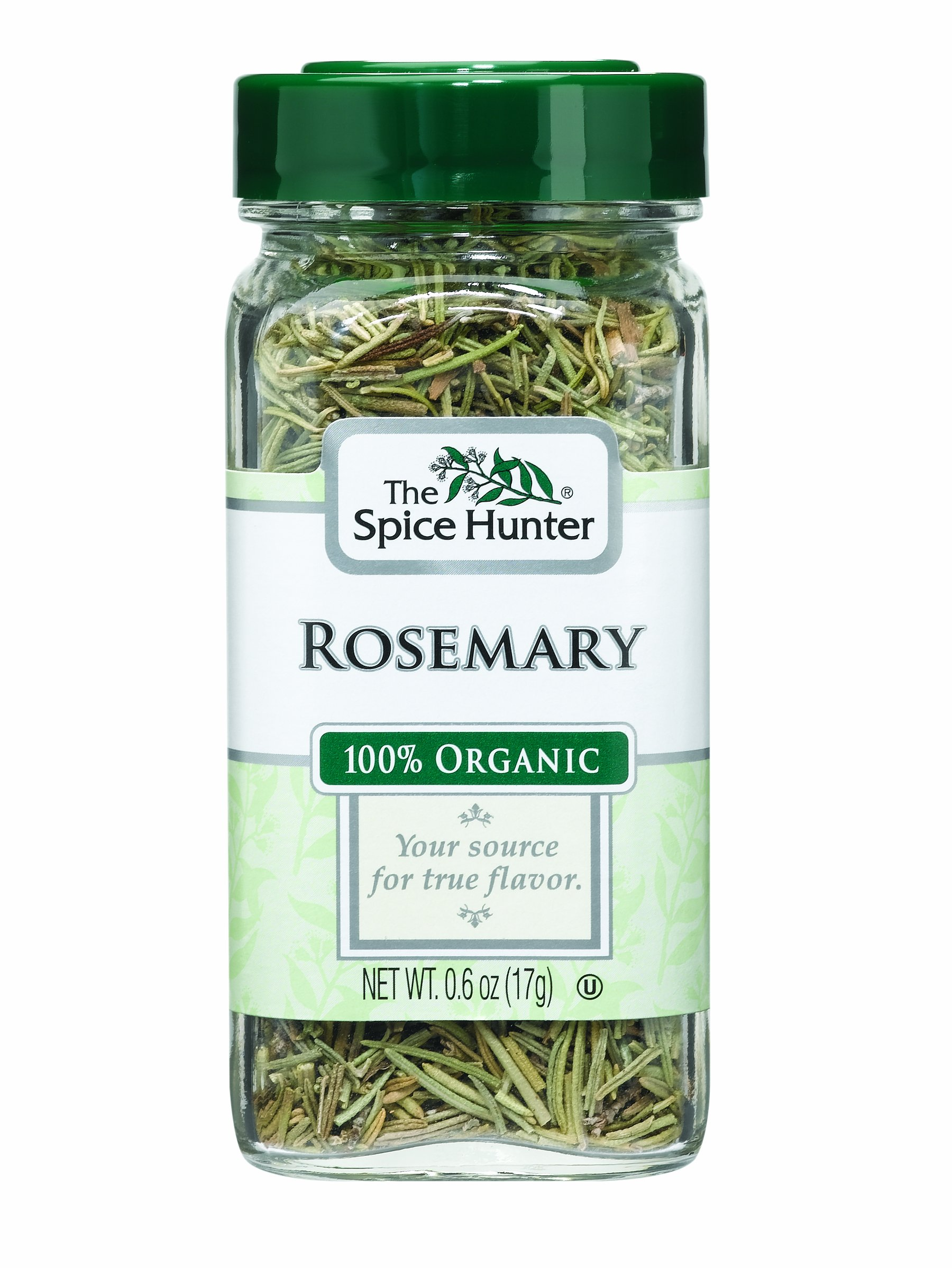 The Spice Hunter Rosemary, Organic, 0.6-Ounce Jars (Pack of 6)