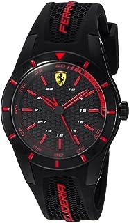 dad30e6272c Amazon.com  Ferrari 830253  RED REV T  Quartz Resin and Silicone ...