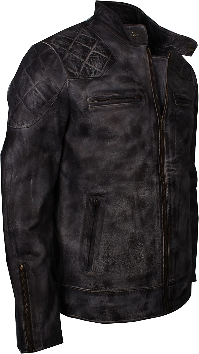 LeatherHits Mens David Beckham Genuine Leather Jacket