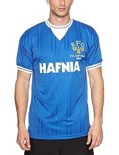 Score Draw Official Retro Mens Everton 1984 FA Cup Final Shirt