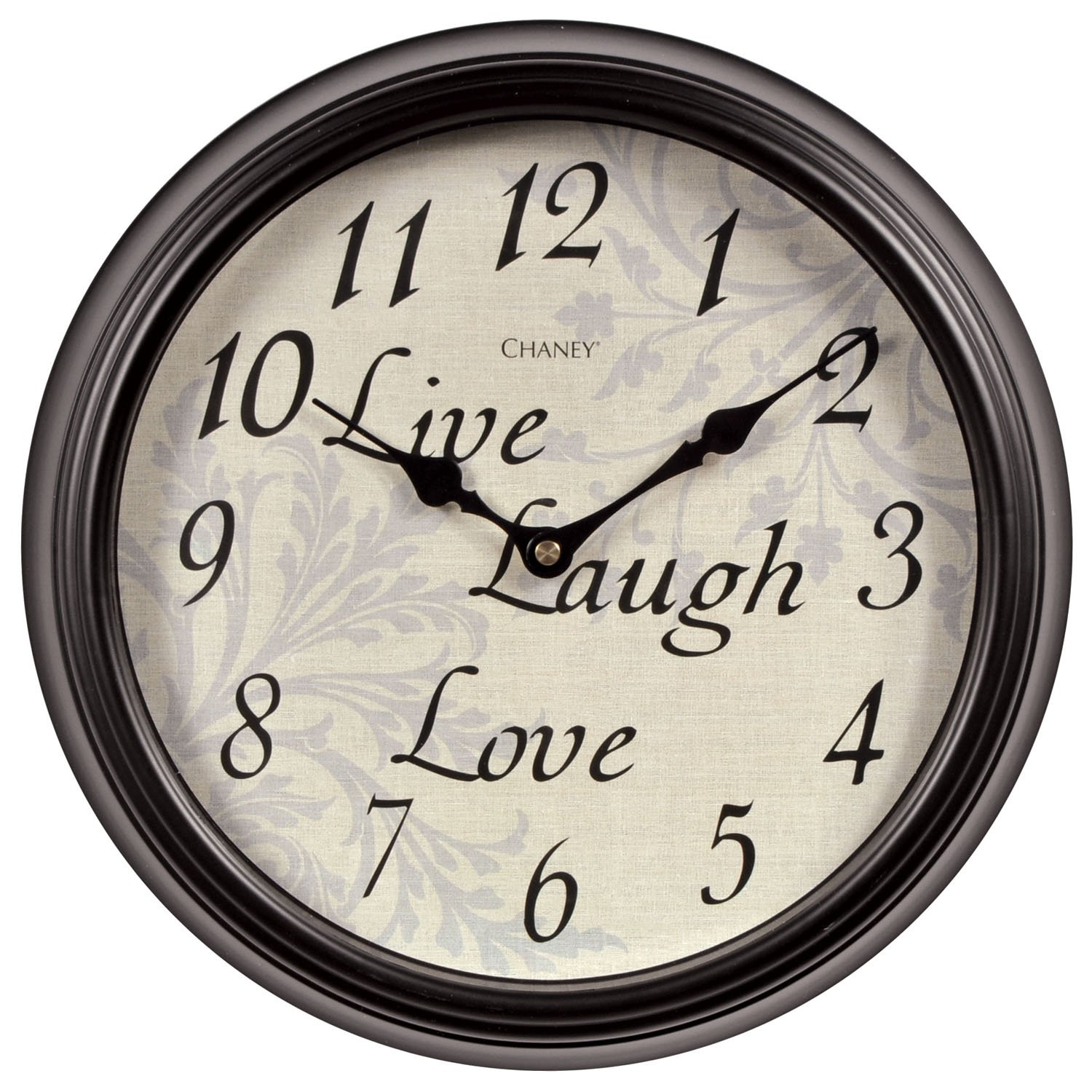 Chaney Instrument Co Live Laugh Love Sentiments Wall Clock