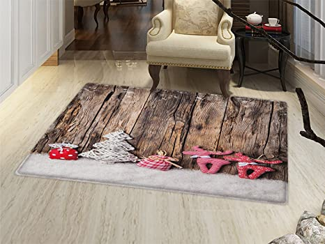 Amazoncom Smallbeefly Winter Bath Mats Carpet Traditional Cute