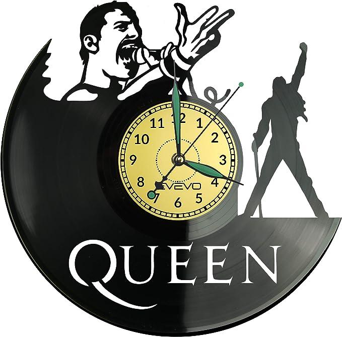 EVEVO Queen Reloj De Pared Vintage Accesorios De Decoración del Hogar Diseño Moderno Reloj De Vinilo Colgante Reloj De Pared Reloj Único 12